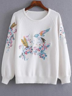SHARE & Get it FREE | Bird Floral Embroidered SweaterFor Fashion Lovers only:80,000+ Items • New Arrivals Daily Join Zaful: Get YOUR $50 NOW!