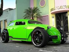 Chopped And Dropped Vw Hotrod In Neon Green Custom Car Insurance For Your Cars Eugene Oregon House Of Vs Lamborghini Sport Sports