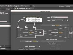 After Effects 3D for beginners: camera in-out-spin - YouTube