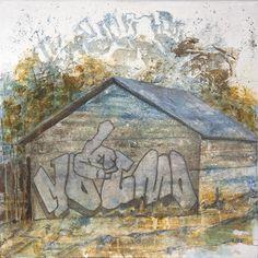 Seija Sainio: Ketä kiinnostaa? mixed media, 80 x 80cm, 2015