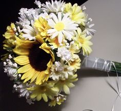Sunflower daisy wedding | Bridal Bouquet Wedding Flowers Sunflower Daisy Bouquet. ... | 11 ~ 20 ...