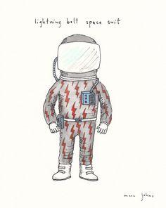lightning bolt space suit — Marc Johns