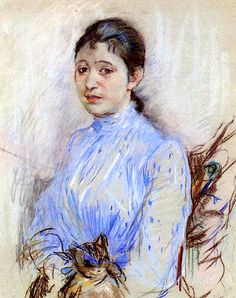 Young Woman in a Blue Blouse Berthe Morisot - 1889