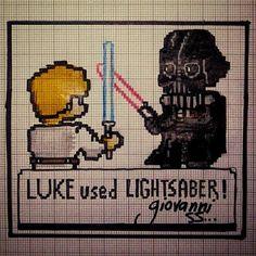 giovanni_ss: ''Star Wars Yellow'' #StarWars #lukeskywalker #DarthVader #Pokemon #PokemonYellow #GameBoy #Nintendo #gameboy #microobbit