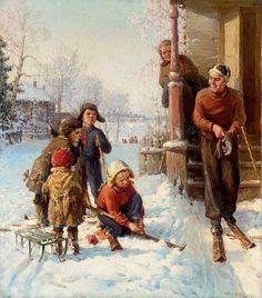 Сычков Федот Васильевич. Снежный день. 1935