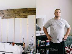 Wood Wall in Master Bedroom DIY