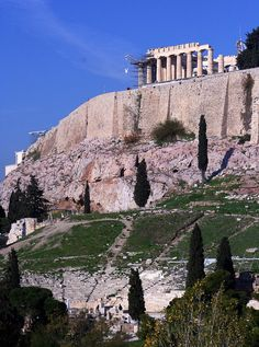 The Parthenon and the Dionysian Theater below, Athens