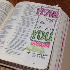 BIBLE JOURNALING - Fear not, for I am with you.