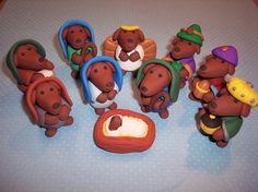 dachshund nativity!