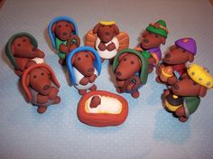 dachshund nativity!