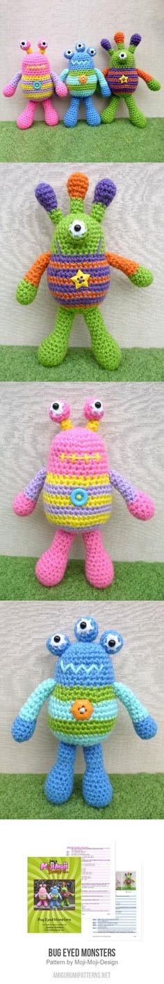 Bug Eyed Monsters Amigurumi Pattern