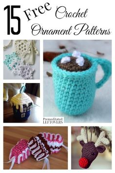 Crochet Christmas ornaments really make a Tree and a home look homespun for the holidays. Here are 15 free crochet ornament patterns to inspire you!