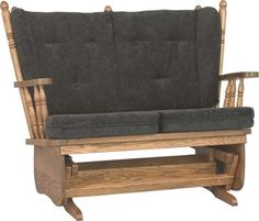 4-Post Low Back Loveseat | Indiana Amish Glider Rocker | Customizable Glider Chair