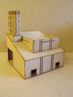 Industiral Building Warehouse Wood Scenery Terrain FOR Warhammer 40K Wargames | eBay