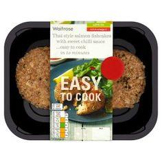 Waitrose Easy To Cook 2 Scottish salmon fishcakes with sweet chilli sauce