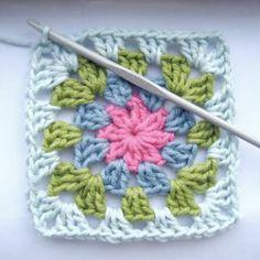 summer garden granny square crochet pattern