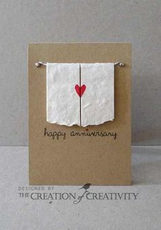 Adorable anniversary card, maybe put a picture of the couple behind the curtain?