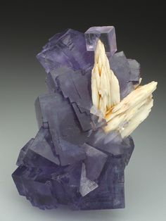 FLUORITE with BARYTE Minerals from Berbes, Asturias, Spain, Europe at Crystal Classics