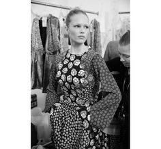 Anna Ewersen backstage du défilé Diane Von Furstenberg automne-hiver 2014-2015