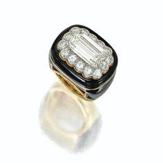 Diamond and enamel ring, David Webb