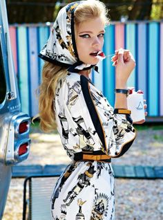 Mara Desipris photographed the Valerie van der Graaf editorial for #Vogue Hellas' May 2012
