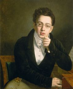 Josef Abel Portrait of a young man with spectacles (Franz Schubert) Oil on Canvas c.1815