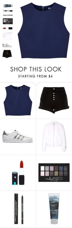 """jingle bell rock"" by ouchm4rvel ❤ liked on Polyvore featuring Alice + Olivia, River Island, adidas Originals, T By Alexander Wang, Korres and Eyeko"