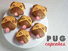 pug cupcakes via alanajonesmann.com