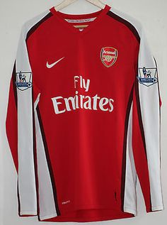 2224c617b  Arsenal 2008 - 2010 long sleeve nike home  football  shirt jersey fabregas  4