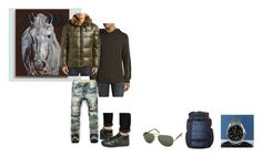 """For Danny (sisters partner) - Danny's ideal wardrobe by me: 30s inspired!"" by sarah-m-smith ❤ liked on Polyvore featuring Ballard Designs, Helmut Lang, S13/NYC, Glorious Gangsta, Mont Blanc, Quiksilver, Victorinox Swiss Army, men's fashion and menswear"