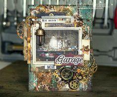 "Vanilla Sky tashabesedina's art blog: Открытка ""Гараж"", СП ""Беспорядок в моей голове"", этап 2 ./ My card ""Garage"" ,Joint project ""Mess in my head"" stage 2"