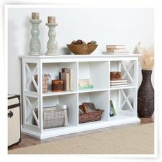The Hampton Console Table Stackable Bookcase - White