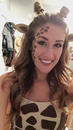 Giraffe Makeup #giraffemakeup #halloween #diy #halloweenmakeup