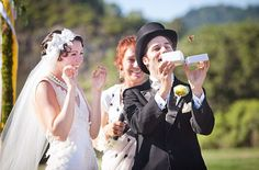 18 Alternatives to the Rice Toss: The rice toss originated as a way to wish the newlywed couple a good harvest, but there are so many other creative, fun, and bird-friendly ways to revamp the tradition.