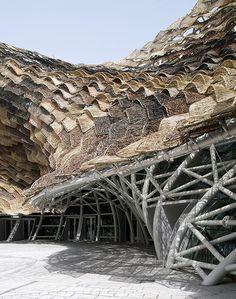 Miralles Tagliabue EMBT | SPANISH PAVILION FOR EXPO SHANGHAI 2010| Photo : Iñigo Bujedo | Archinect