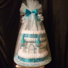 III-Tier Light-Up patent pending Castle Cake by A Unique Designer Gift Basket. See it at the next Babies 'R' Us diaper drive event.