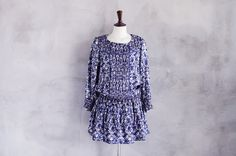 Blue paisley dress by paris-newyork