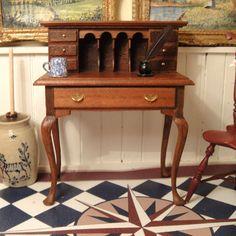 Ellen Miner - Queen Anne Secretary Desk, Signed and Dated 1979; sold on ebay for $135