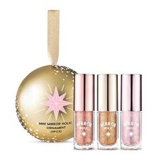 What it is The 3 kinds of mini size Mirror Holic Liquid Eyes kit attracts attention with fantastic shine as bling bling
