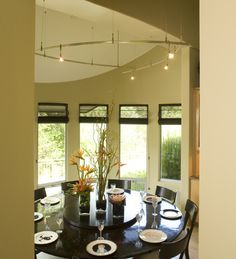 Dining Room Round Dining Room Design, Pictures, Remodel, Decor and Ideas - page 4