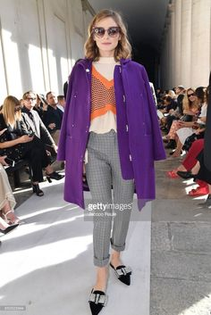 Olivia Palermo attends the Max Mara show during Milan Fashion Week Spring/Summer 2018 on September 21, 2017 in Milan, Italy.