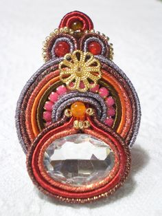 Anello soutache con strass