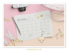 Isabodesign, Monthly planner, January 201, Planner mensile