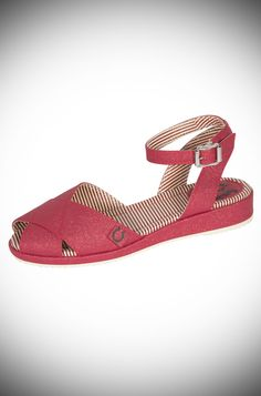 Harlow Sandals in Red Sparkle