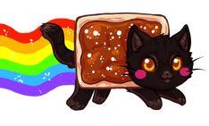 Chocolate Nyan Cat by bricu.deviantart.com on @deviantART