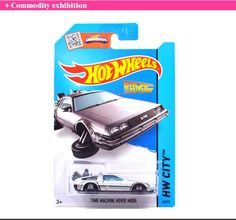 Free Shipping Hot Wheels Time Machine Collection Metal Cars Hot Wheels Back To The Future Style Children's Educational Toys 1:64