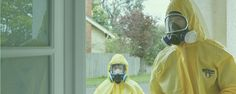Forensic Cleaners during Mould Removal Inspection Process in Melbourne, Australia