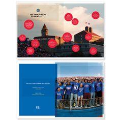 University of Kansas Viewbooks by Rose Gaynor, via Behance