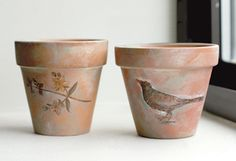 Some terra cotta pots I painted