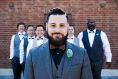 There's no questioning who the groom is in this artfully composed portrait.